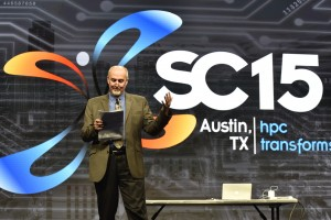 Me introducing the SC15 invited plenary speakers -- Photo by SC15