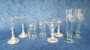 My SC drink glass collection - Picture by Bernd Mohr