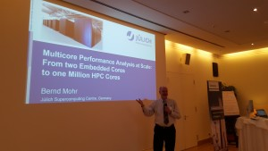 Me presenting at the Multicore@Siemens 2016 conference -- Picture by Siemens