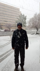 Snow blizzard in Salt Lake City -- Picture by Bernd Mohr