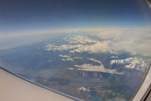 View of the Alps from the HALO Aircraft.