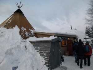A Sami tent called Lavvu. Picture by Isabell Krisch, FZJ.