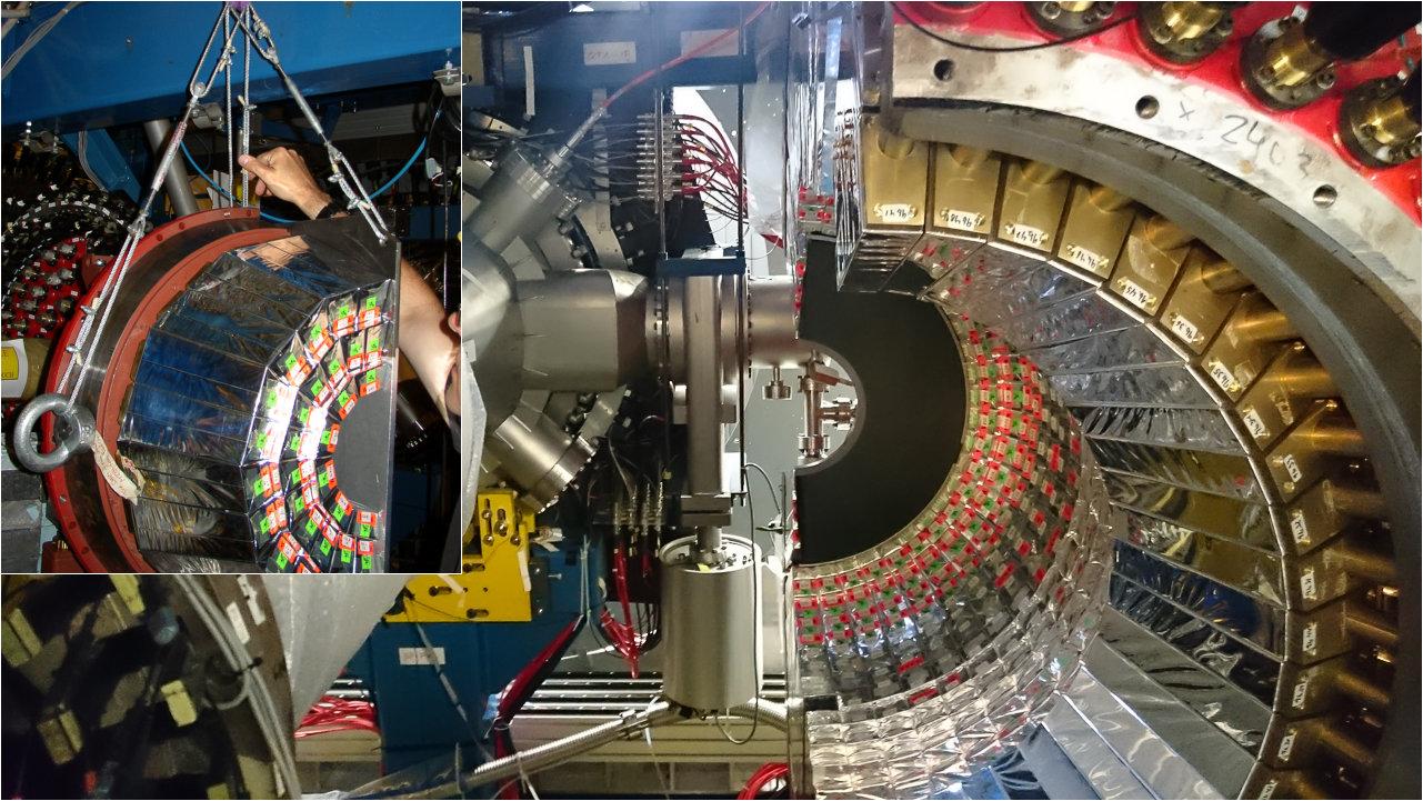 Geöffneter Zentraldetektor (Bild: VH / Forschungszentrum Jülich)