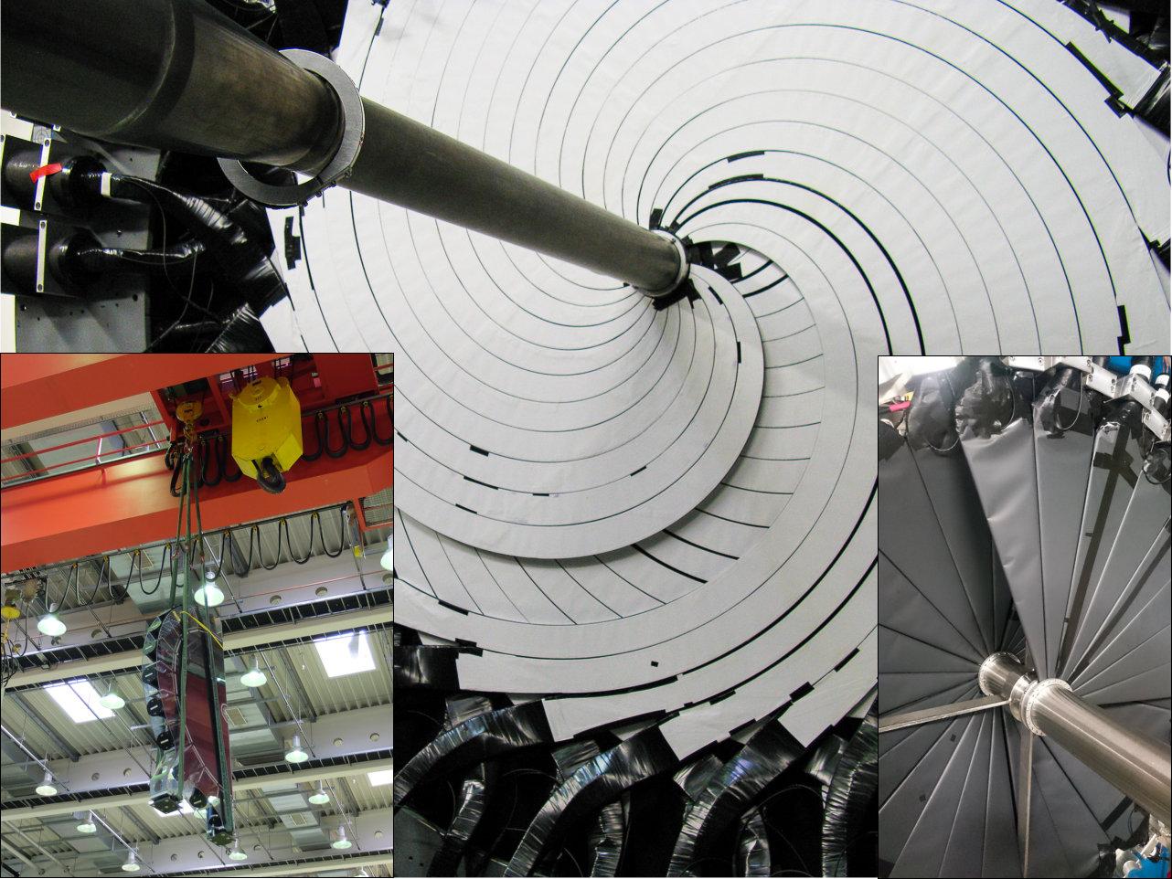 Elemente des Vorwärtsdetektors (Bilder: VH / Forschungszentrum Jülich)
