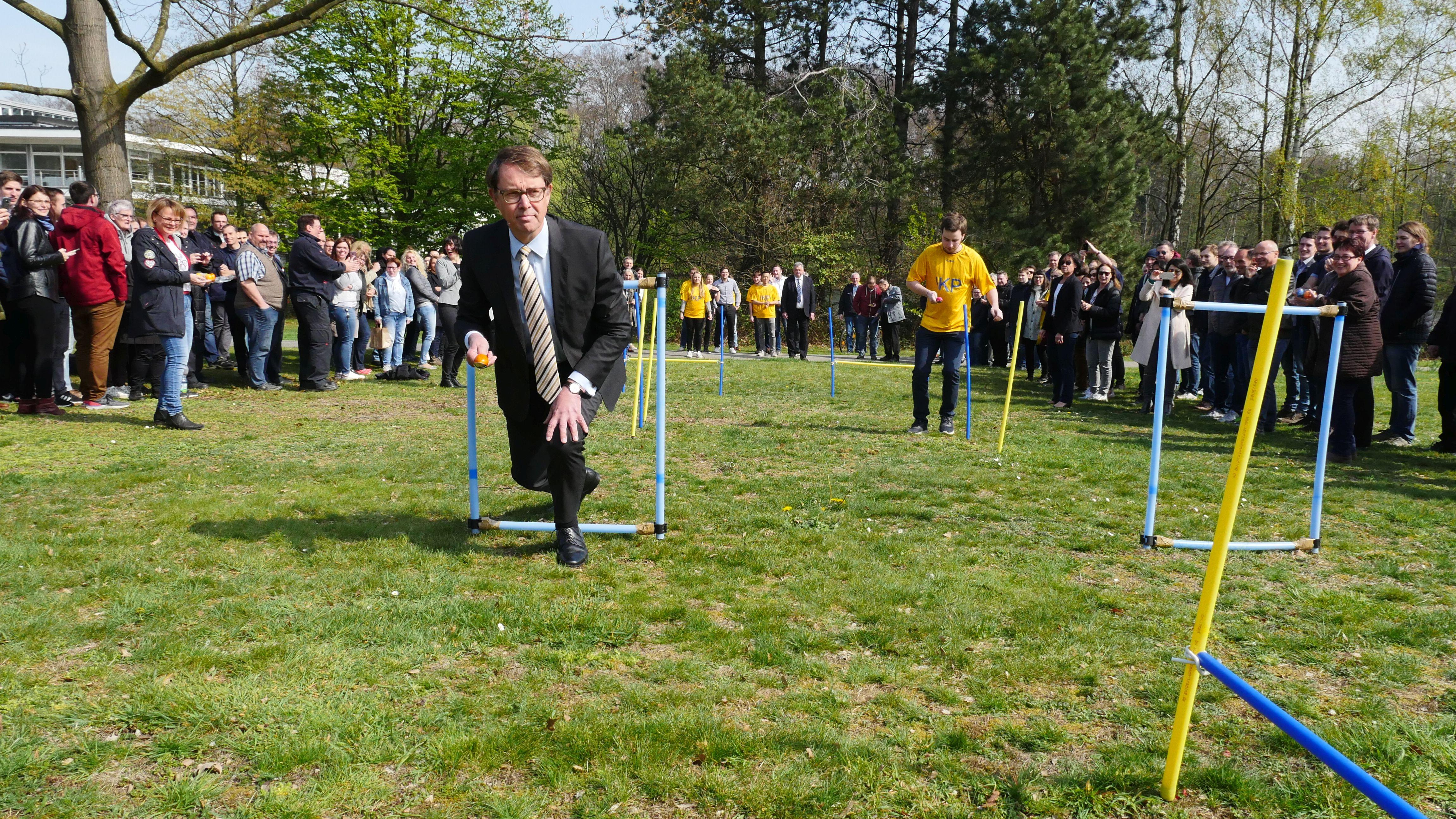 Karsten Beneke bei der Sport-Challenge